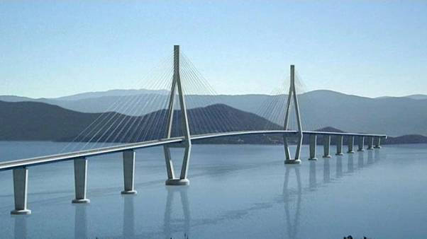 This is how Peljesac Bridge is expected to look when it's completed