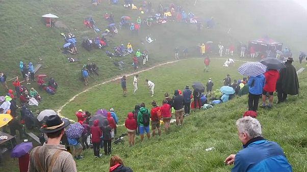 Watch: Austrian men do battle in martial arts contest atop mountain