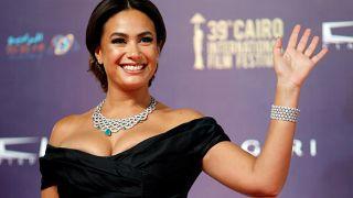 الممثلة التونسية هند صبري خلال افتتاح مهرجان القاهرة الدولي للسينما (أرشيف)