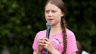 الناشطة السويدية الصغيرة جريتا تونبرج برلين 19 يوليو تموز 2019