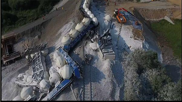 Descarrila un tren que transportaba piedra caliza en la República Checa