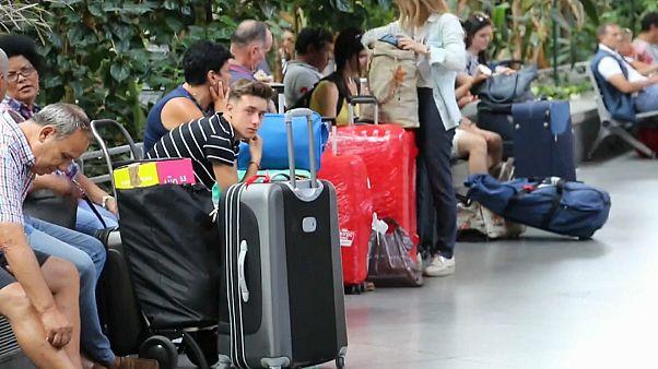 Paro de trenes en España en el inicio de las vacaciones