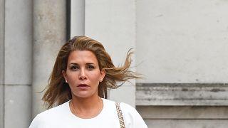 La principessa Haya lascia la Royal Courts of Justice di Londra (30.7.2019).