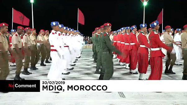 ویدئو؛ جشن بیستمین سال تاجگذاری پادشاه مراکش
