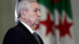 الرئيس الجزائري المؤقت عبد القادر بن صالح 9 أبريل نيسان 2109
