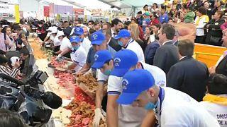 Watch: Chefs create Mexico's longest sandwich