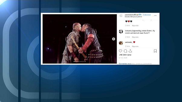 Rammstein: Kuss vor 80.000 in Moskau