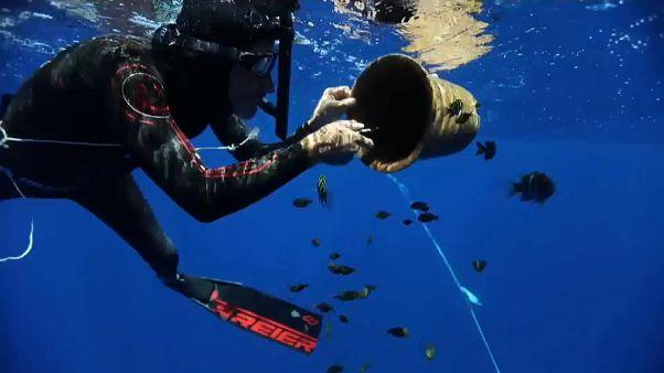 Szemétgyűjtő óceán átúszás