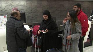 عائلة محمد شميم صديقي تغادر مطار كرايستشيرش في رحلتها إلى الحج