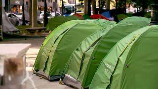 Kαταυλισμός αστέγων στο κέντρο της Μαδρίτης
