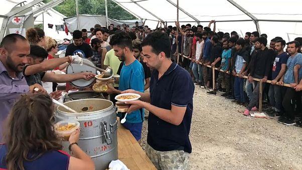 On Europe's doorstep: migrants stuck in Bosnian border camp