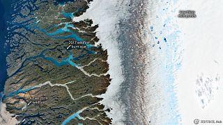 El impacto de la ola de calor en Groenlandia, en cinco imágenes