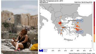Στο κόκκινο η θερμοκρασία σε όλη την Ελλάδα