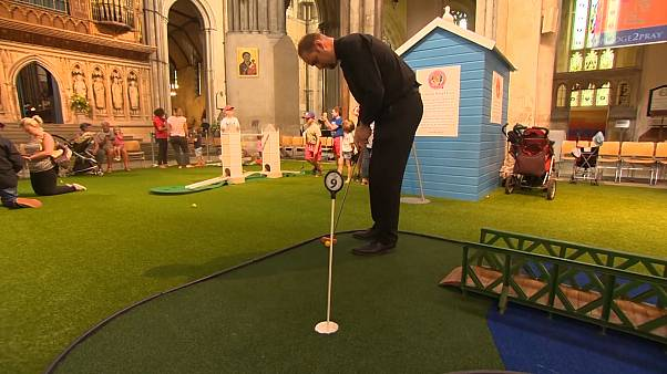 'Pray and play': English cathedral unveils crazy golf course