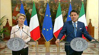 Ursula von der Leyen en visite en Italie