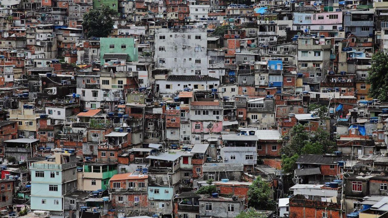 Veduta parziale della favela Rocinha.