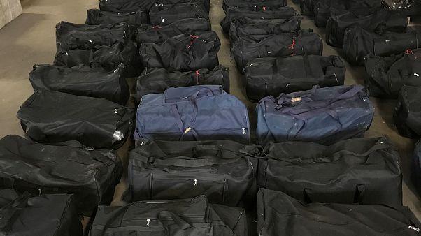 Almanya'nın Hamburg kentinde ele geçirilen 4,5 ton kokain