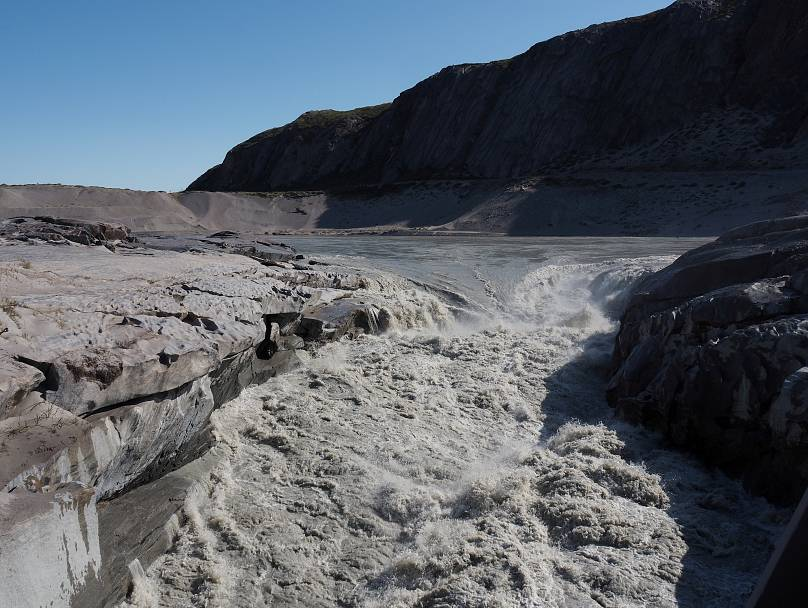Il ghiaccio che si scioglie, a Kangerlussuaq