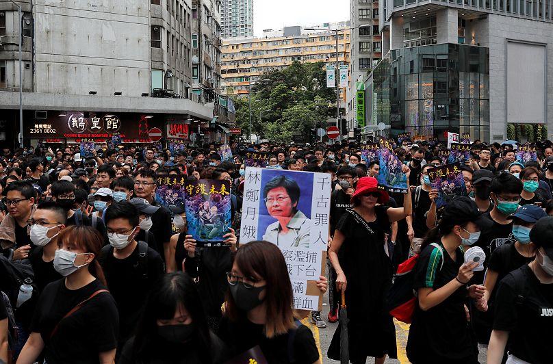Manifestanti anti-governativi a Mongkok, Hong Kong