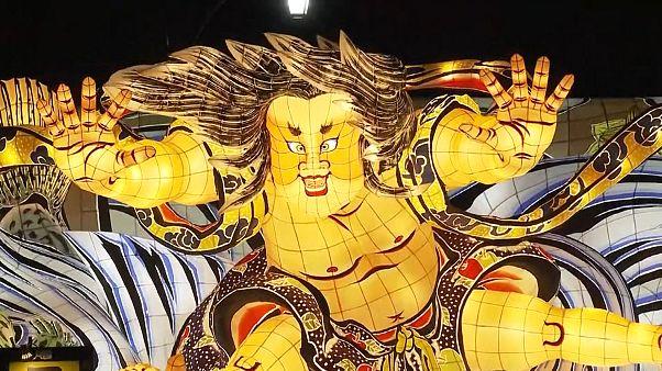Começou o festival Nebuta Aomori