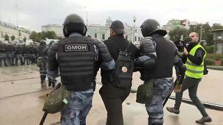 Represión masiva a la oposición política rusa