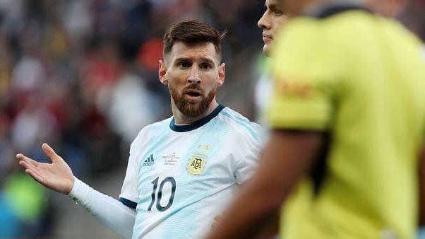 Lionel Messi nach seiner roten Karte im Spiel um Platz drei