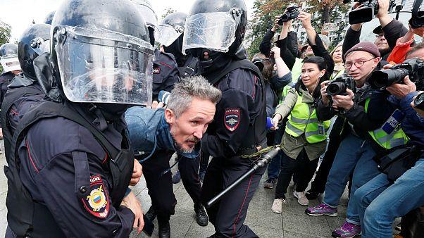 دویست نفر در جریان تظاهرات ضد دولتی در مسکو دستگیر شدند