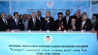 Türkiye'de modern tarihin ilk Süryani Kilisesi için temel atıldı: Erdoğan ve İmamoğlu törene katıldı