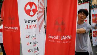 Protests erupt as relations cool between Japan and South Korea