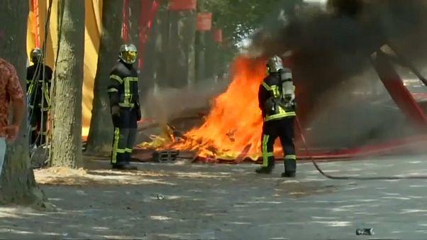 اشتباكات بين الشرطة ومتظاهرين في نانت الفرنسية بعد وفاة شاب في ظروف غامضة
