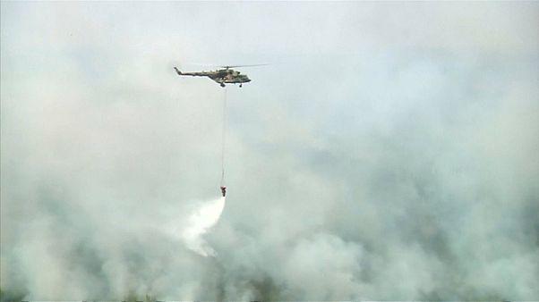 Rus hava kuvvetlerinin müdahalesine rağmen Sibirya'da orman yangınlarının önü alınamıyor