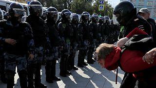 دستگیری معترضان دولت در مسکو