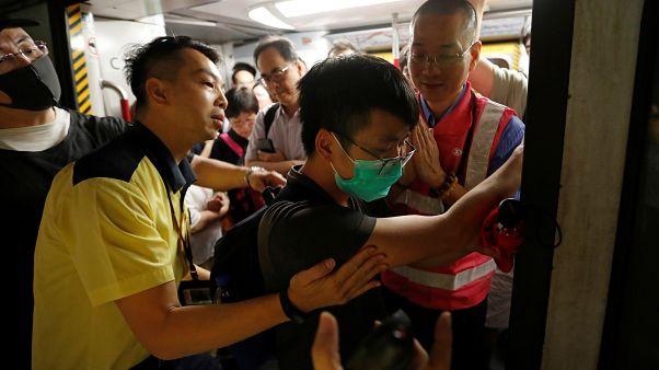 Hong kong paralizada por la huelga general