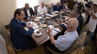 Συνάντηση με αρχηγούς κοινοβουλευτικών κομμάτων - Προεδρική κατοικία, Τρόοδος