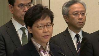 زعيمة هونغ كونغ تؤكد أن المتظاهرين يسعون لتدمير المدينة