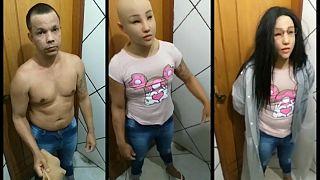 تاجر المخدرات بعد توقيفه خلال محاولة الهرب
