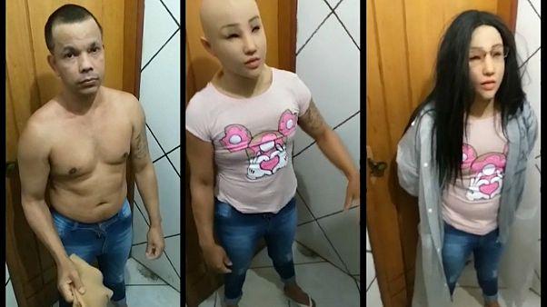 Video | Brezilya: Kadın kılığında kaçma girişimi gardiyanlara takıldı
