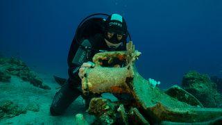 Ancient shipwrecks discovered in the sea near small Greek island