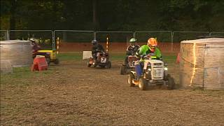 The 12-hour lawnmower race was a test of endurance for drivers