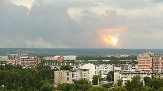 انفجار در زاغه مهمات در سیبری هفت زخمی و هزاران آواره بر جا گذاشت