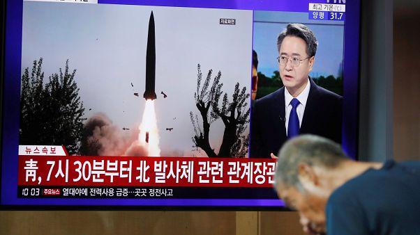 Bericht im nordkoreanischen Fernsehen über den Raketentest