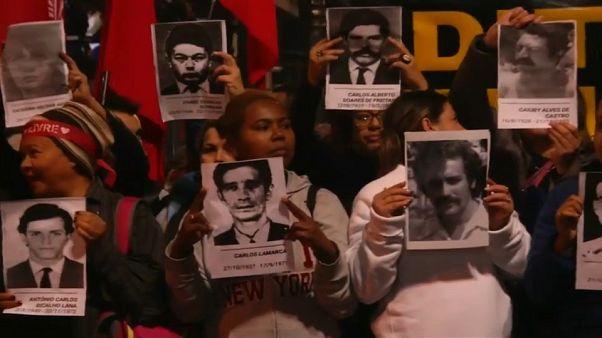 Az elnök ellen tüntettek Brazíliában