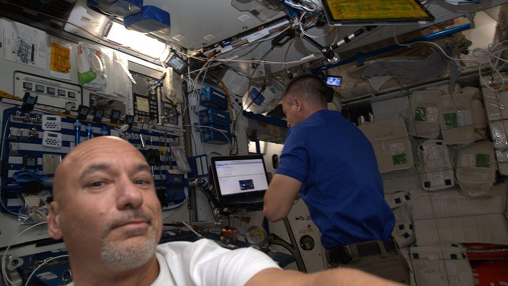 Bikini masturbation on the international space station