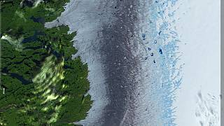 Before and after pictures show Greenland's rapid ice melt from space