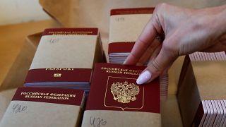 Estonia says it won't recognise Russian passports Putin has offered in Ukraine