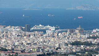 Άποψη του Πειραιά από τα Τουρκοβούνια