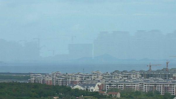 """""""أبنية من سراب"""" كما التقطتها عدسة التلفزيون المركزي الصيني"""