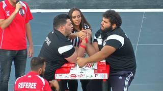 Teenager takes top prize in Lebanese arm wrestling competition