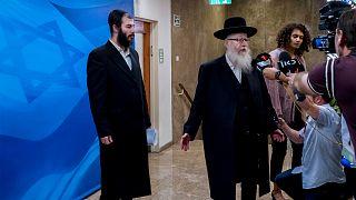 نائب وزير الصحة الإسرائيلي يعقوب ليتزمان يدلي بتصريحات في القدس