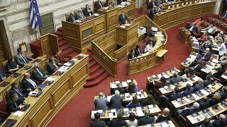 Ο πρωθυπουργός Κυριάκος Μητσοτάκης στην Ολομέλεια της Βουλής (αρχείου)